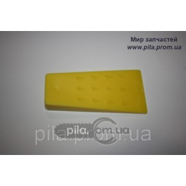 Клин валочный ABS-пластик (140 мм) желтый