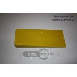Клин валочный ABS-пластик (200 мм) желтый